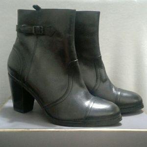 Sebago  - Black Ankle Leather Boots